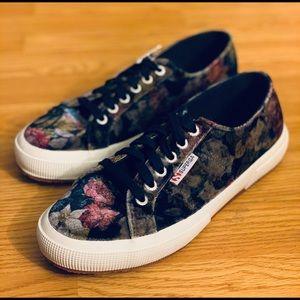 NEW Superga 2750 Chic Floral Velvet Sneakers